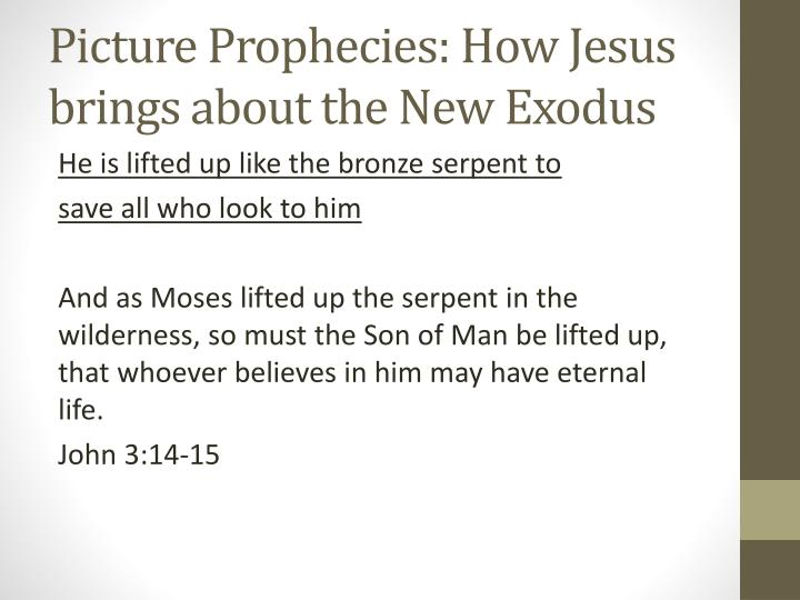 Picture Prophecies: How Jesus brings about the New Exodus