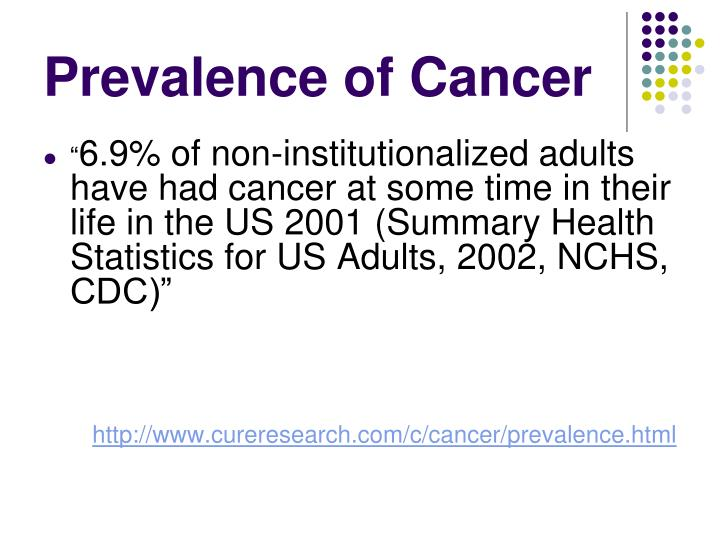 Prevalence of Cancer