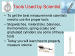 tools used by scientist