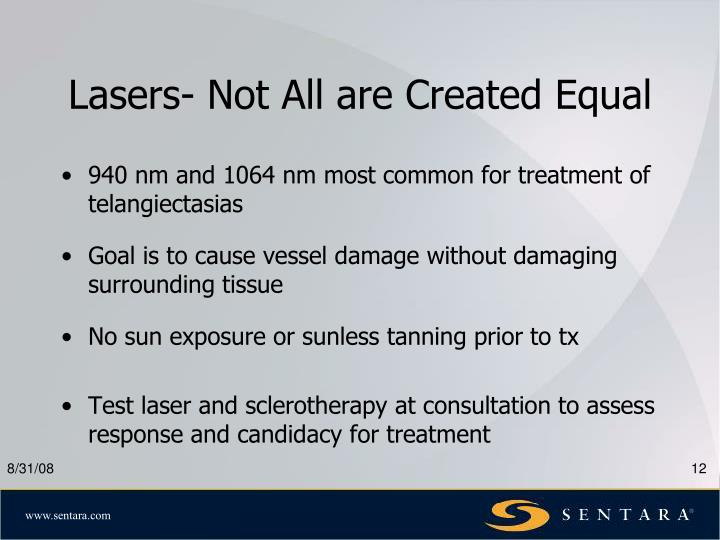Lasers- Not All are Created Equal