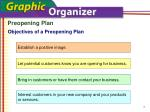 objectives of a preopening plan