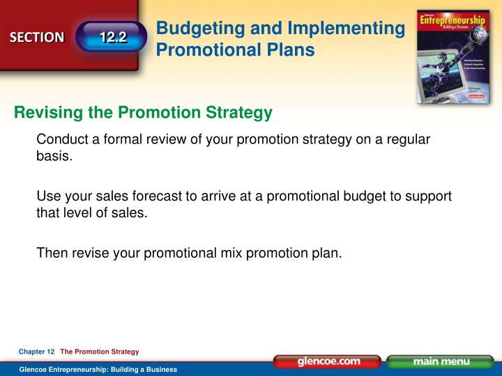 Revising the Promotion Strategy