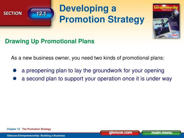 Drawing Up Promotional Plans