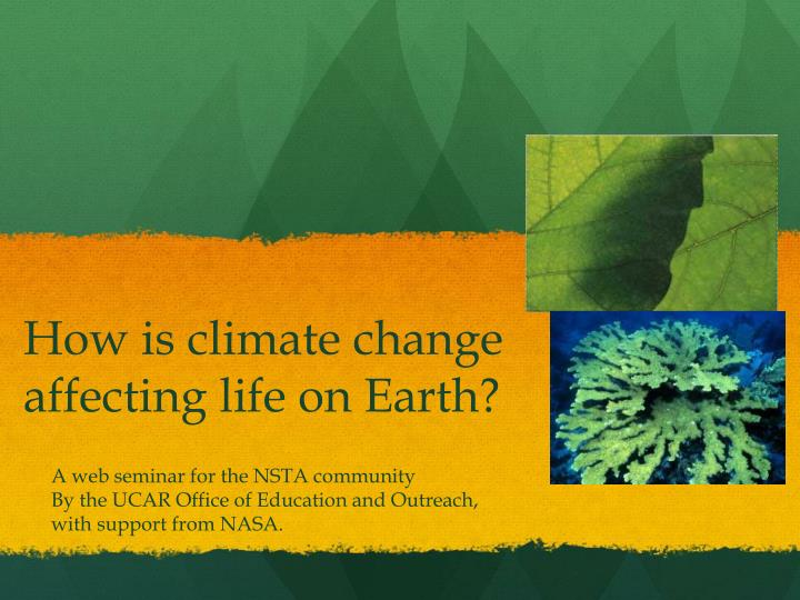 How is climate change affecting life on Earth?