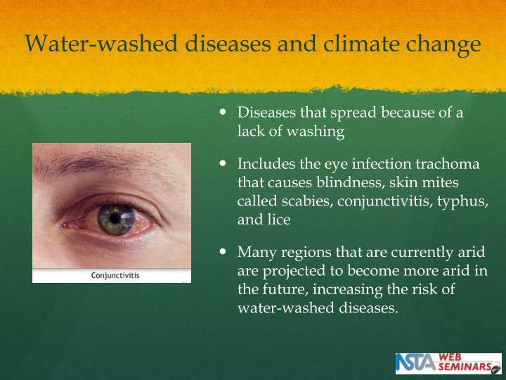 Water-washed diseases and climate change
