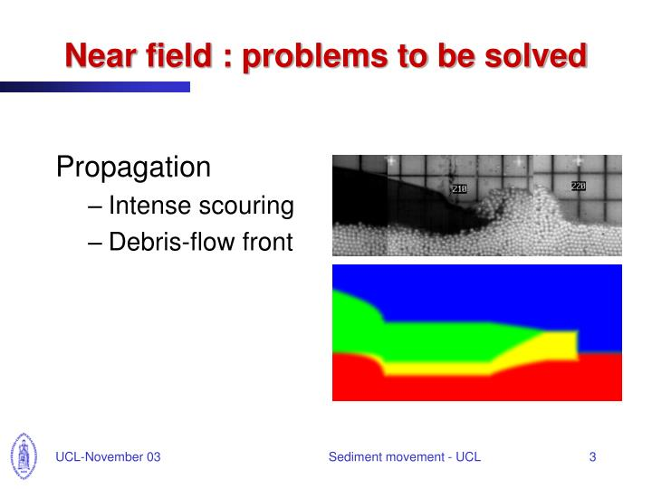 Near field problems to be solved