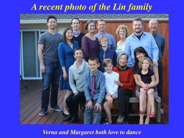 A recent photo of the Lin family