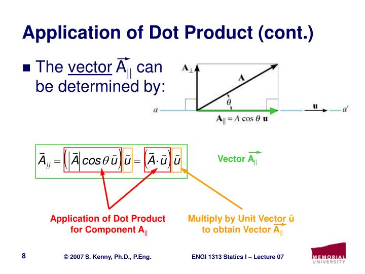 Application of Dot Product (cont.)