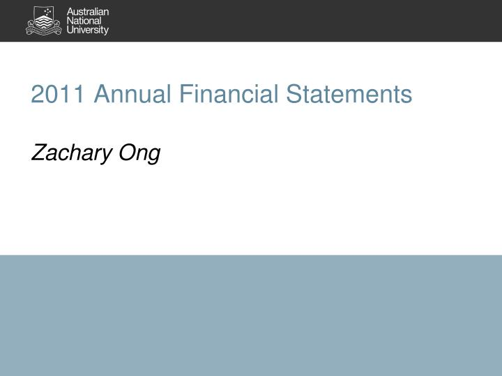 2011 Annual Financial Statements