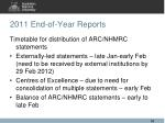 2011 end of year reports