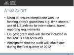 a 133 audit2