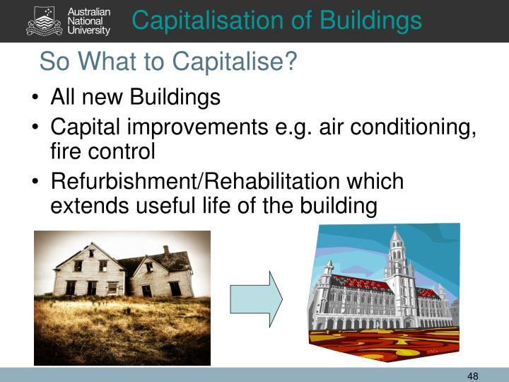 Capitalisation of Buildings