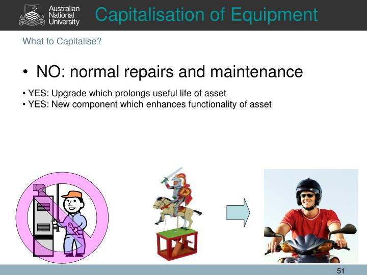 Capitalisation of Equipment