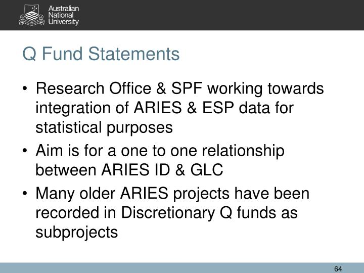 Q Fund Statements