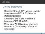 q fund statements