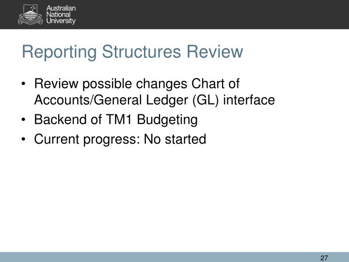 Reporting Structures Review