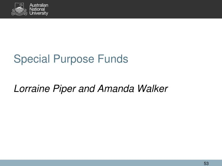 Special Purpose Funds