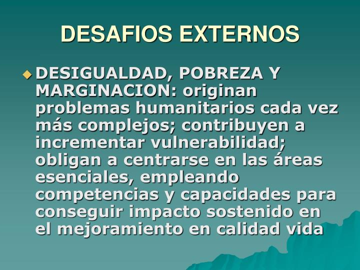 DESAFIOS EXTERNOS