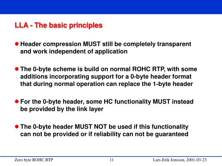 LLA - The basic principles