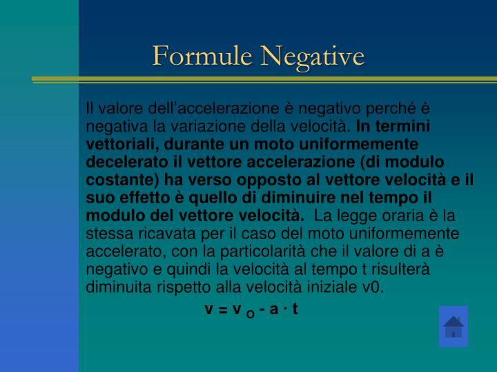 Formule Negative
