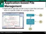 application based file management