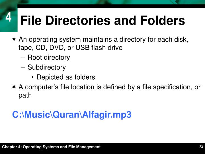 File Directories and Folders