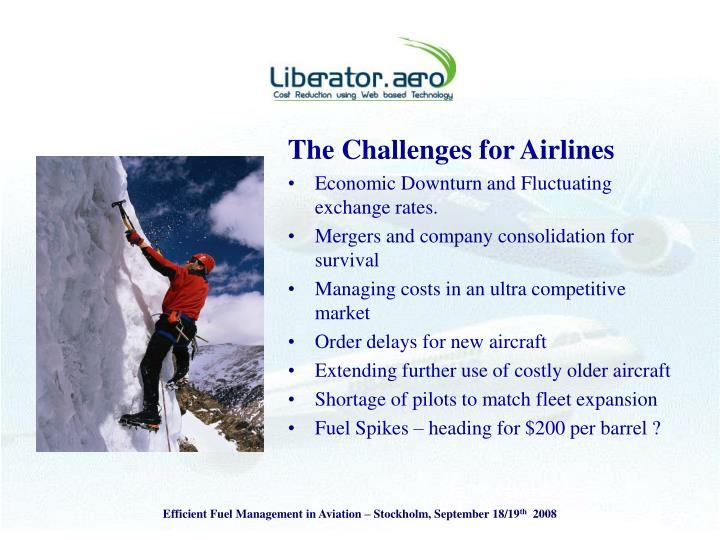 The Challenges for Airlines