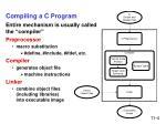 compiling a c program