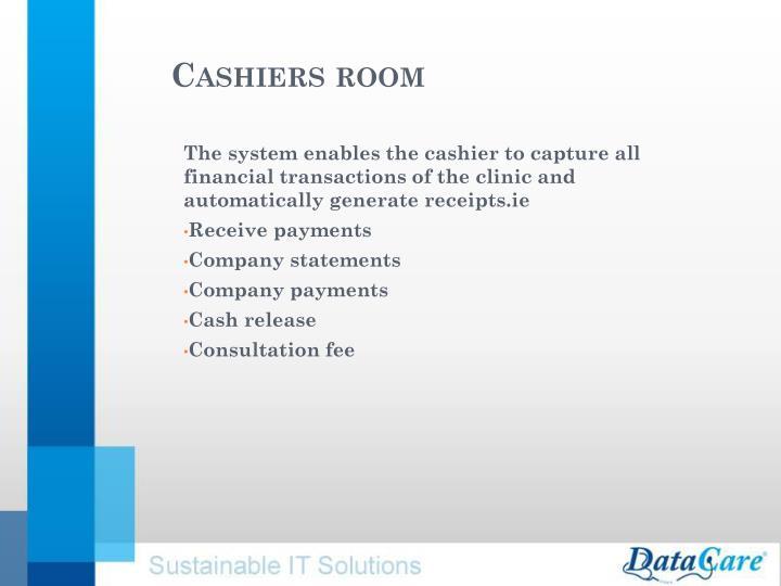 Cashiers room