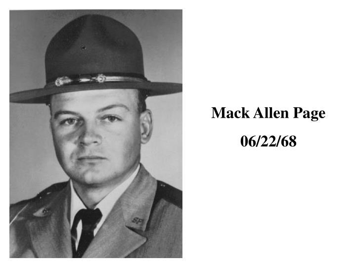 Mack Allen Page