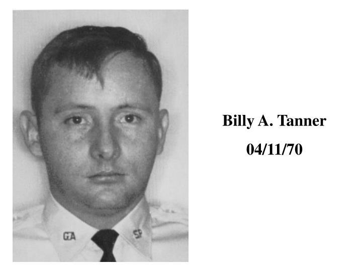 Billy A. Tanner