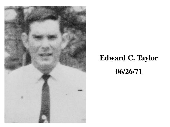 Edward C. Taylor