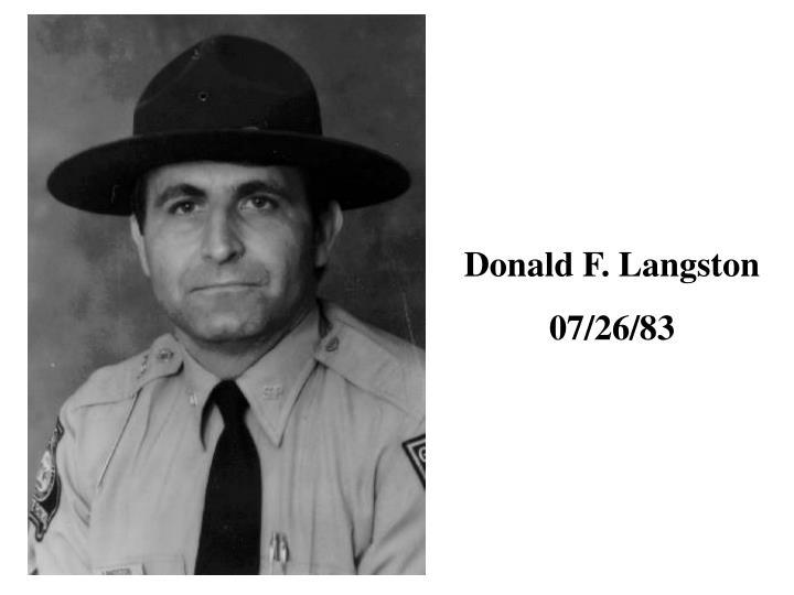 Donald F. Langston