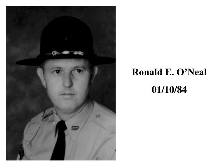 Ronald E. O'Neal