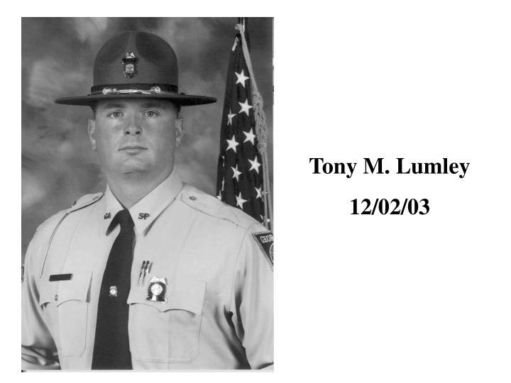 Tony M. Lumley
