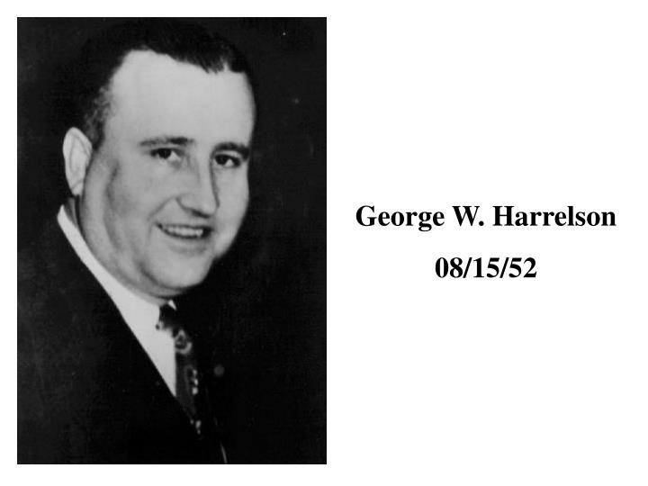 George W. Harrelson