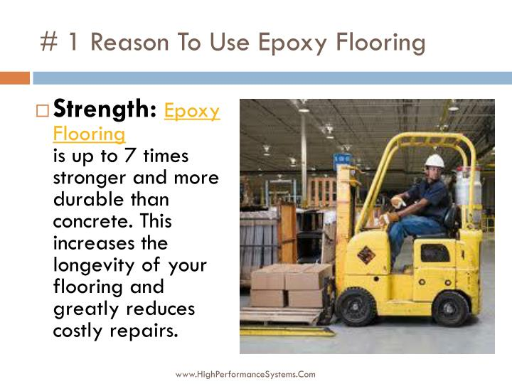 1 reason to use epoxy flooring