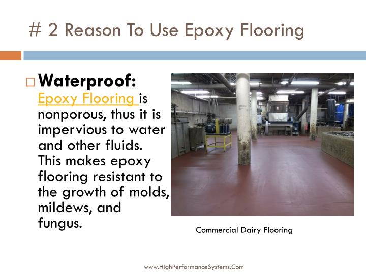2 reason to use epoxy flooring