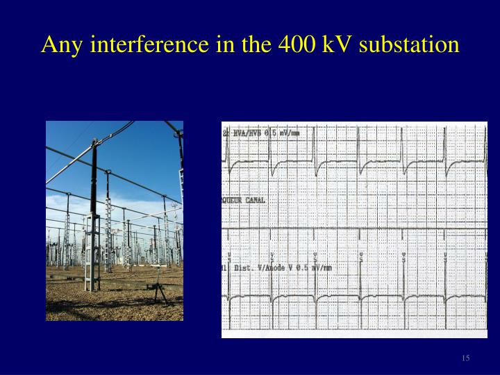 Any interference in the 400 kV substation
