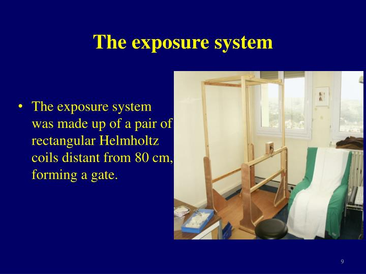 The exposure system