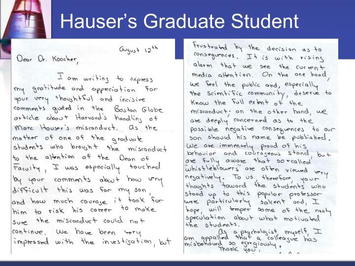 Hauser's Graduate Student