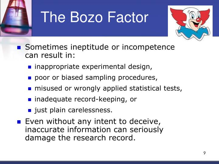 The Bozo Factor