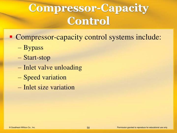 Compressor-Capacity Control
