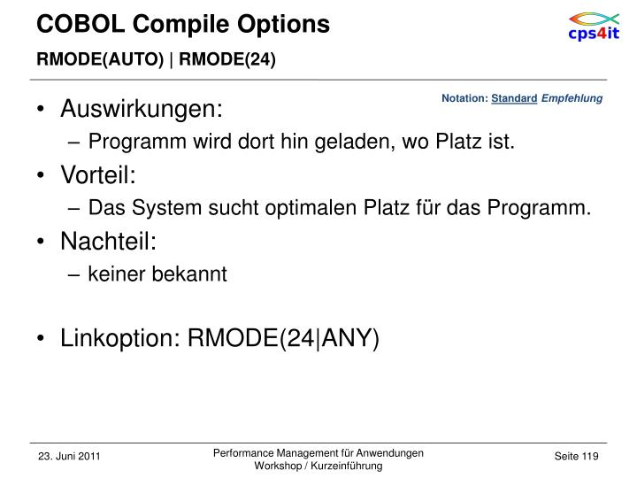 COBOL Compile Options