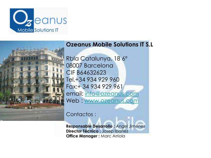 Ozeanus Mobile Solutions IT S.L