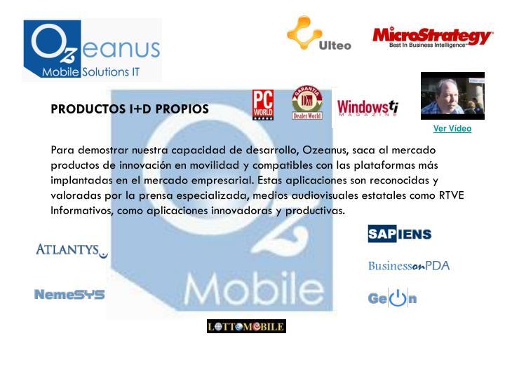 PRODUCTOS I+D PROPIOS