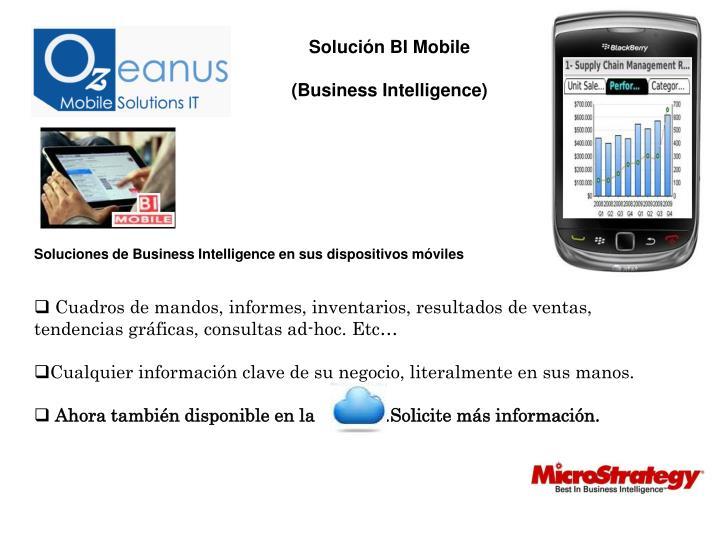 Solución BI Mobile