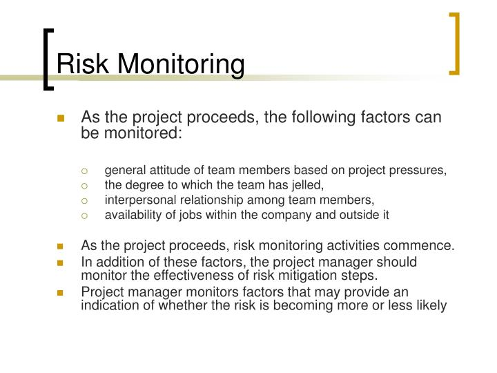 Risk Monitoring