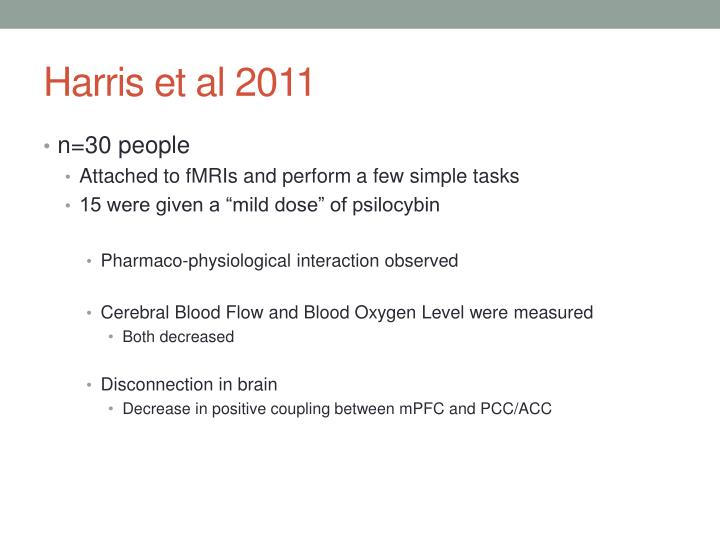 Harris et al 2011