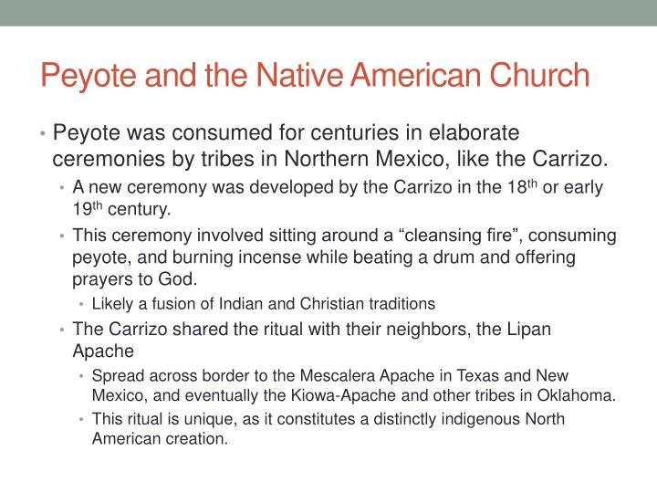 Peyote and the Native American Church